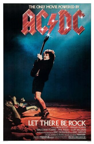 AC/DC: LET THERE BE ROCK (1980)  -  ORIGINAL MOVIE POSTER  -  ROLLED