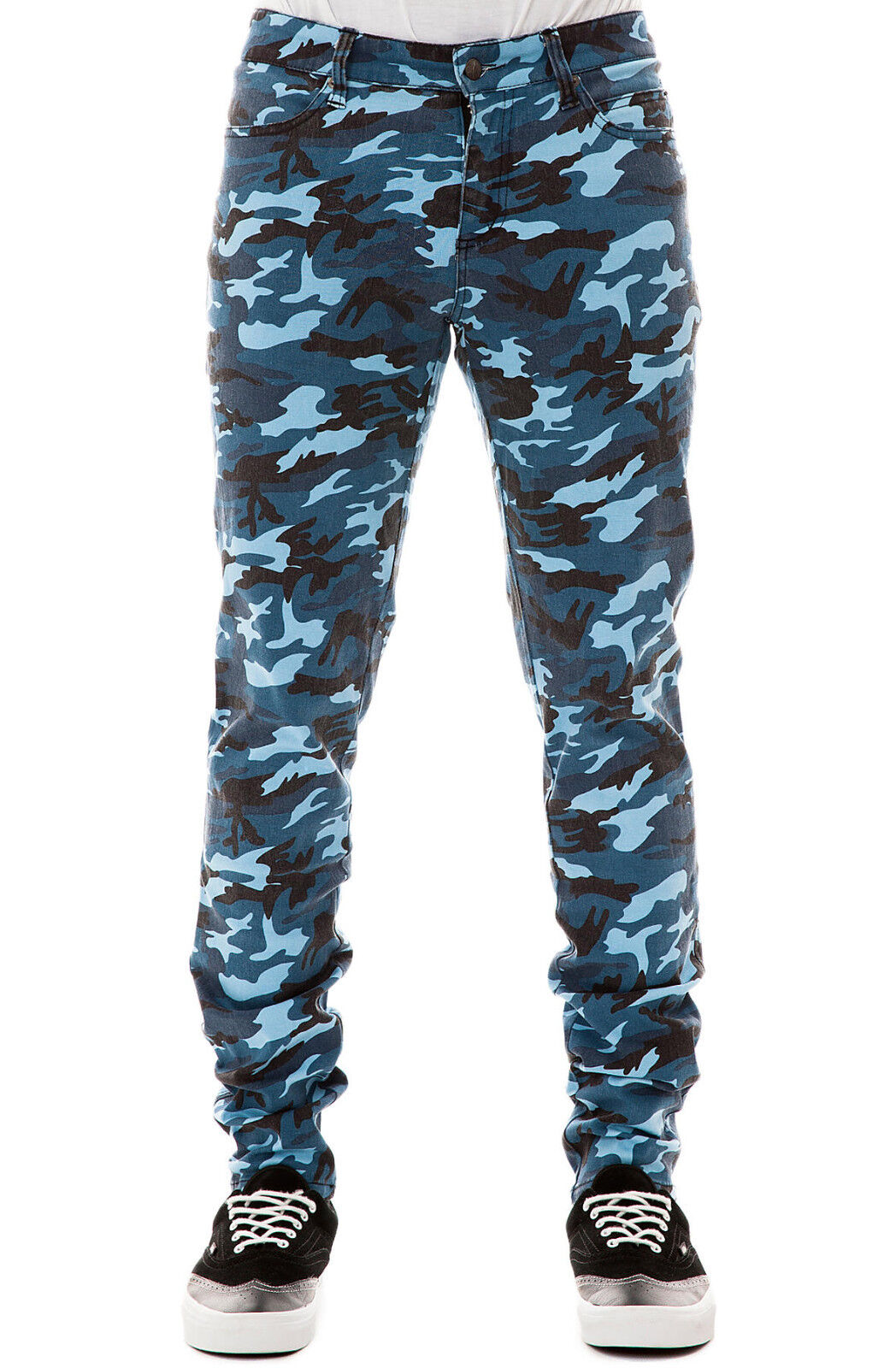 TRIPP EXPLOITED CAMOUFLAGE SKINNY JEANS ROCKER UNISEX FIT PUNK ROCK ARMY PANTS Clothing, Shoes & Accessories