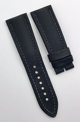 Authentic Blancpain 24mm x 20mm Fifty Fathoms Black Sailcloth Watch Strap OEM
