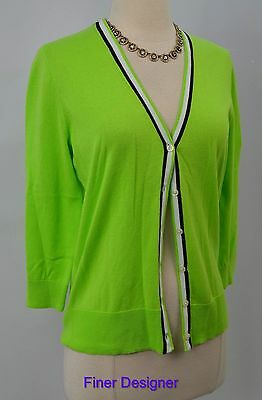 Chaps putnam fine Knit Sweater shrug top cardigan light kiwi green SZ S NWT $59