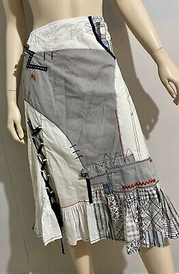 Joe Browns Black and White Patchwork Skirt Size 14 - Steampunk / Cosplay
