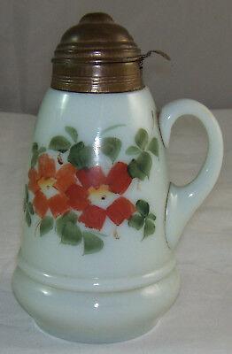 lch Glas Syrup Tropffreiem Krug Flaschen- & Schwenkbar Metall (Vintage Glas Milch Flaschen)
