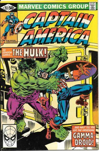 Captain America #257 The Incredible Hulk