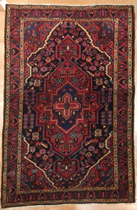 Jovial Jozan - 1920s Antique Oriental Rug - Tribal Carpet - 3.6 X 5.1 Ft