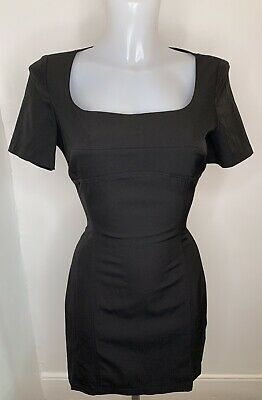 VERSACE JEANS COUTURE • Black Stretch Mini Dress • Size 10