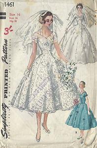 Patron Couture Voile Robe Demoiselle DHonneur Style Vintage Années ...