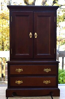 "Vintage Mahogany Armoire/Wardrobe for Doll or Child  25"" x 15"" x 7 3/4"", used for sale  Hot Springs Village"