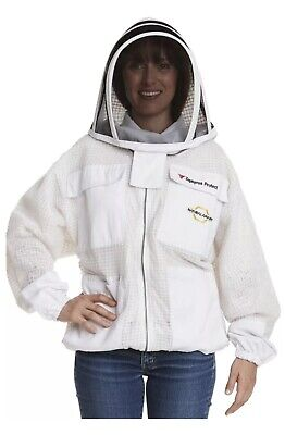 Natural Apiary - Zephyros Protect Beekeeping Jacket - White - Clear View Fencing