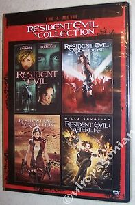 RESIDENT EVIL 4 Movie Collection DVD Apocalypse Extinction Afterlife 1 2 3 4 NEW