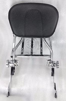 NEW Adjustable Detachable Backrest Sissy Bar Rack Chrome Harley Touring 09-17