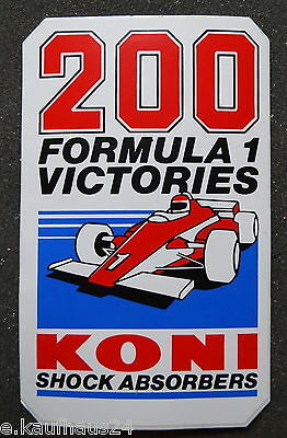 Aufkleber 200 FORMULA 1 VICTORIES KONI SHOCK ABSORBERS Sticker Autocollant F1