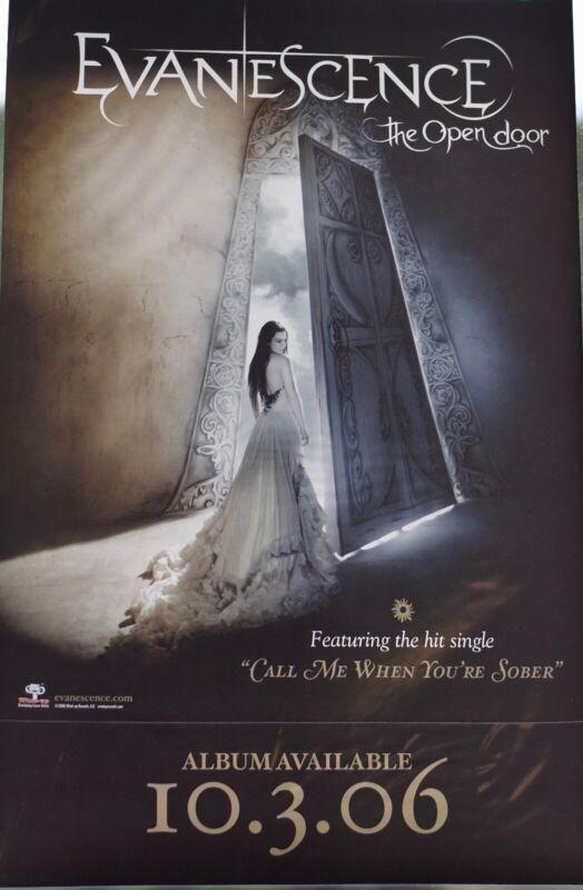 """Evanescence, The Open Door 11"""" X 17"""" Window Cling"""