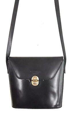 Vintage Cristian Firenze Black Leather Shoulder Bag Purse Toggle Closure Black Leather Toggle