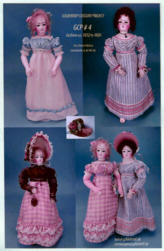 "Gildebrief Century Project #4 1812-1820  French Fashion Doll  43-46cm (17-18"")"
