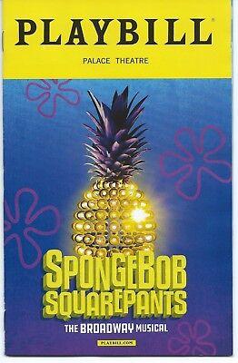 SPONGEBOB SQUAREPANTS Broadway Playbill Sara Bareilles, Panic! at the Disco etc.