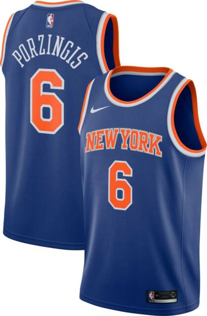 newest 97f7b b0d30 Brand New Nike Men's New York Knicks Kristaps Porzingis ...