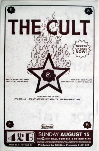 THE CULT / NEW AMERICAN SHAME 2004 SAN DIEGO CONCERT TOUR POSTER-Hard Rock Music