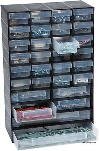 Garland Hobby Small parts storage cabinet organizer box with 30 assorted drawers