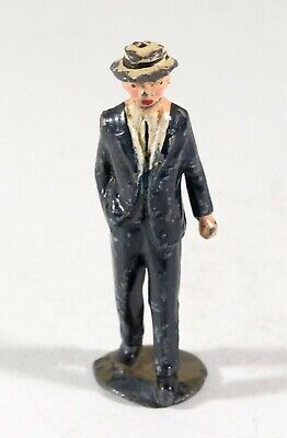 1950s Mens Suits & Sport Coats | 50s Suits & Blazers Vintage Barclay Manoil Lead Figure, Man in Fancy Suit and Hat 1950s $14.99 AT vintagedancer.com