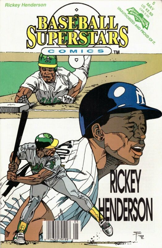 Baseball Superstars Comics #5 Henderson Newsstand (1991-1993) Revolutionary