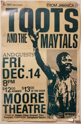 Toots and the Maytals 1984 Moore Theatre concert poster
