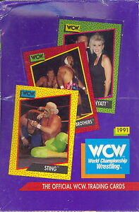 WCW WORLD CHAMPIONSHIP WRESTLING 1991 IMPEL SEALED TRADING CARD BOX WWF WWE