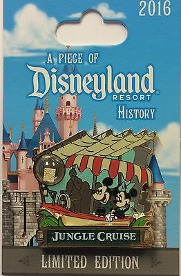 Disneyland 2016 Mickey & Minnie JUNGLE CRUISE Piece of Disney History POH LE Pin