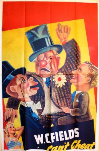 YOU CAN'T CHEAT AN HONEST MAN 1939 W.C. Fields, Edgar Bergen UK 40x60 POSTER
