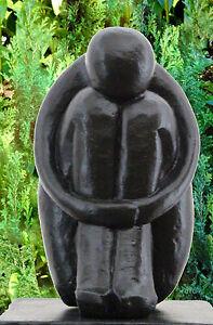 ... Pierre Type Single Noir Sculpture Moderne Décoration De Jardin  eBay