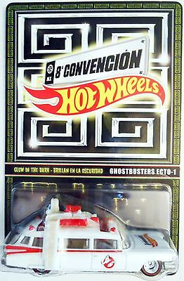 2015 Hot Wheels Mexico Convention Glow In The Dark Ghostbusters Ecto 1
