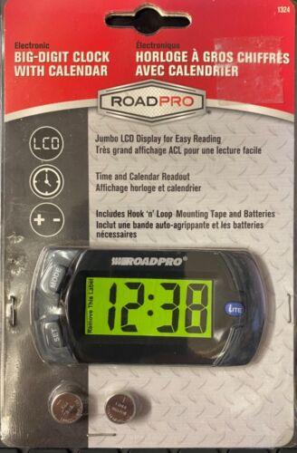 RoadPro Big-Digit Clock w/Calendar (1324)