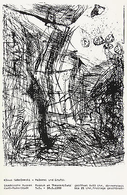 Klaus Sobolewski: Malerei und Grafik. Ausstellungsplakat 1988, selten