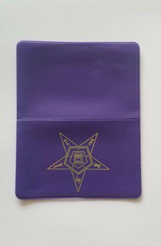 Purple Order of Eastern Star Dues Card holder