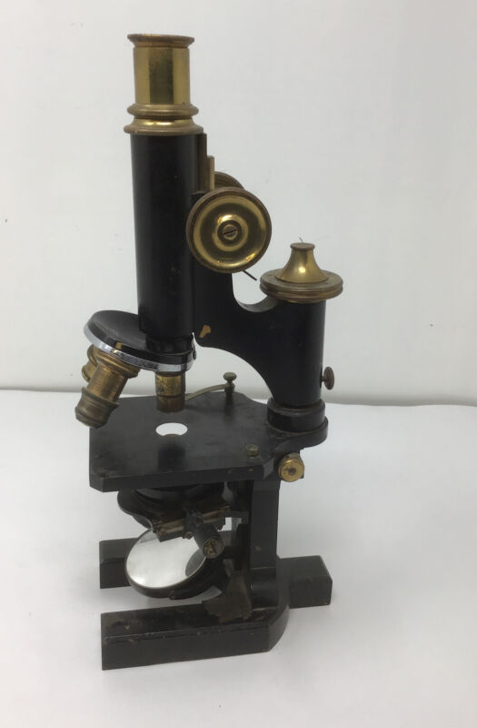 Vintage Bausch & Lomb Microscope Brass Fancy Science Scientific Antique