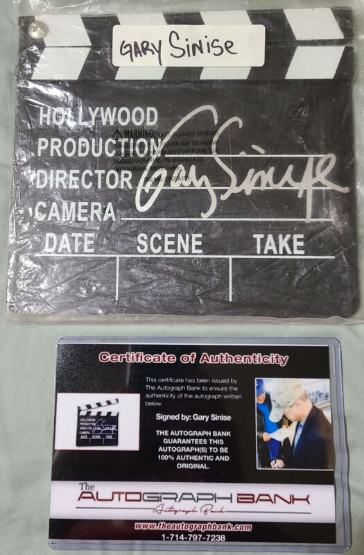 GARY SINISE AUTHENTICATED AUTOGRAPHED HOLLYWOOD MOVIE CLAPPER