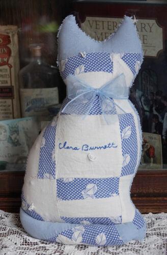Antique Friendship Quilt Bedspread Kitty Cat pillow Clara 1936