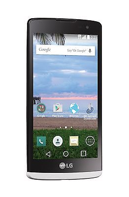 Lg Sunset White 4 5  Android Smartphone With Triple Minutes   Tracfone   New