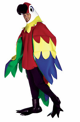 Parrot Bird Mascot Animal Adult Costume Multi Colored Body With Large Wings - Parrot Costume Wings