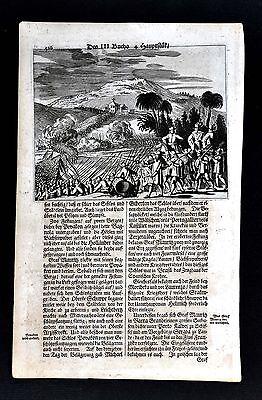 c. 1673 Montanus Print - Count Mauritz de Nassau Campagin in Northeast Brazil