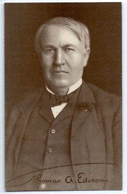 Thomas Edison advertisement postcard for Amberol Records phonograph c. 1910