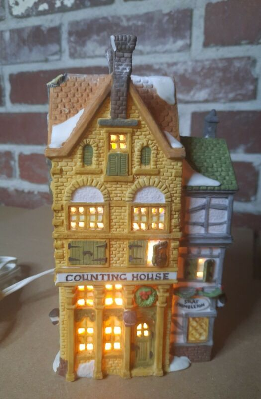 """Vintage Dept 56 Dickens Village """"Silas Thimbleton, Barrister & Counting House"""""""