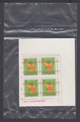 CANADA SEALED PLATE BLOCKS 712xx PRECANCELLED FLORAL DEFINITIVES, JEWELWEED