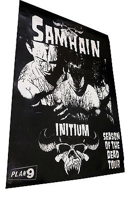 Samhain Initium Promo Poster 1984 Misfits Glenn Danzig Plan 9