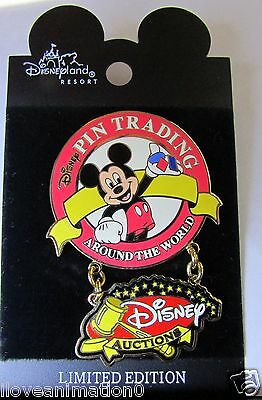 Disney Auction Pin  Trading Around the World Dangle LE Mickey Mouse Pin**