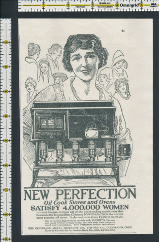New Perfection Oil Cook Stove and Ovens 1923 magazine print ad