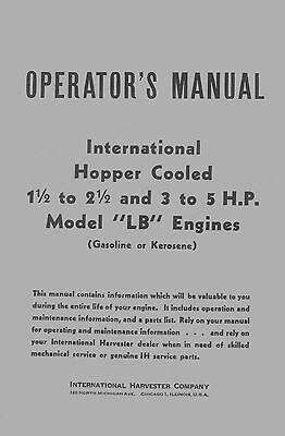Ihc Lb Operators Manual With Parts List
