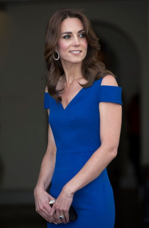 Kate Middleton In Tight Blue Suit 8x10 Photo Print