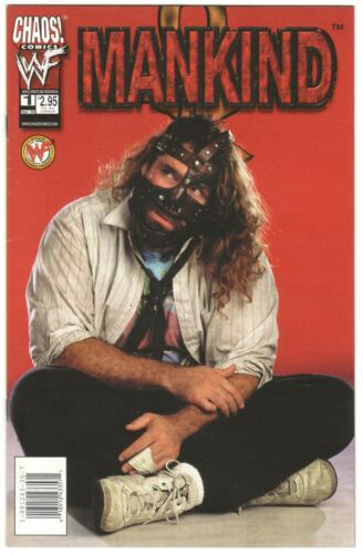MANKIND #1 ~ CHAOS! 1999 ~ Mick Foley photo cover WWF VF