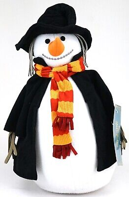"New Universal Wizarding World Of Harry Potter Hogsmeade Snowman 12"" Plush"