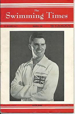 The Swimming Times magazine-1961-March - David Barr - Glasgow Univ.pool